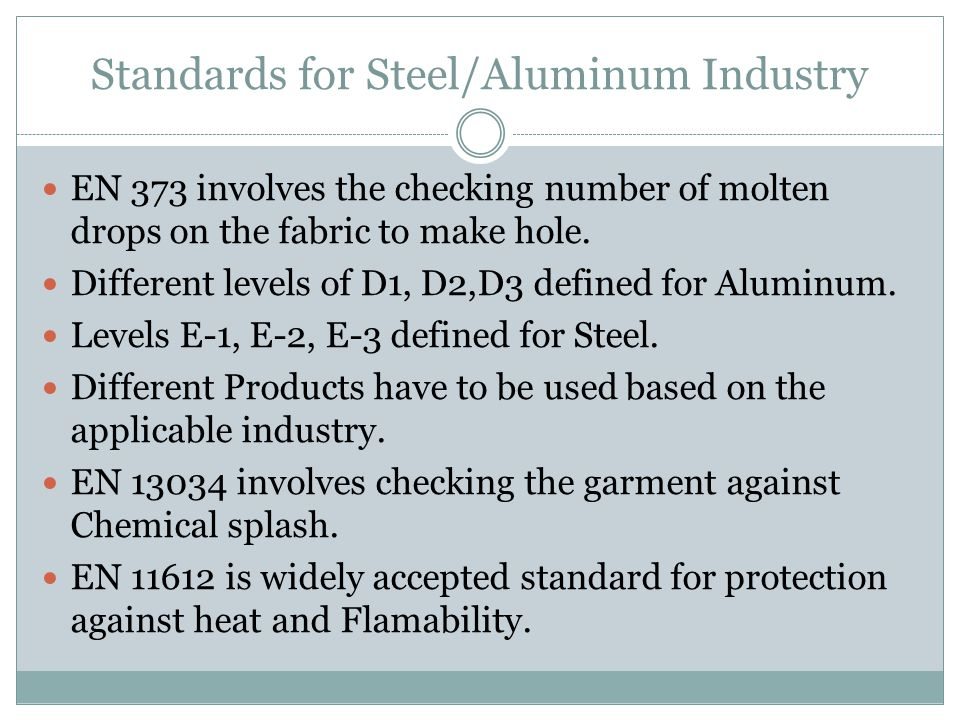 Standards for Steel/Aluminum Industry
