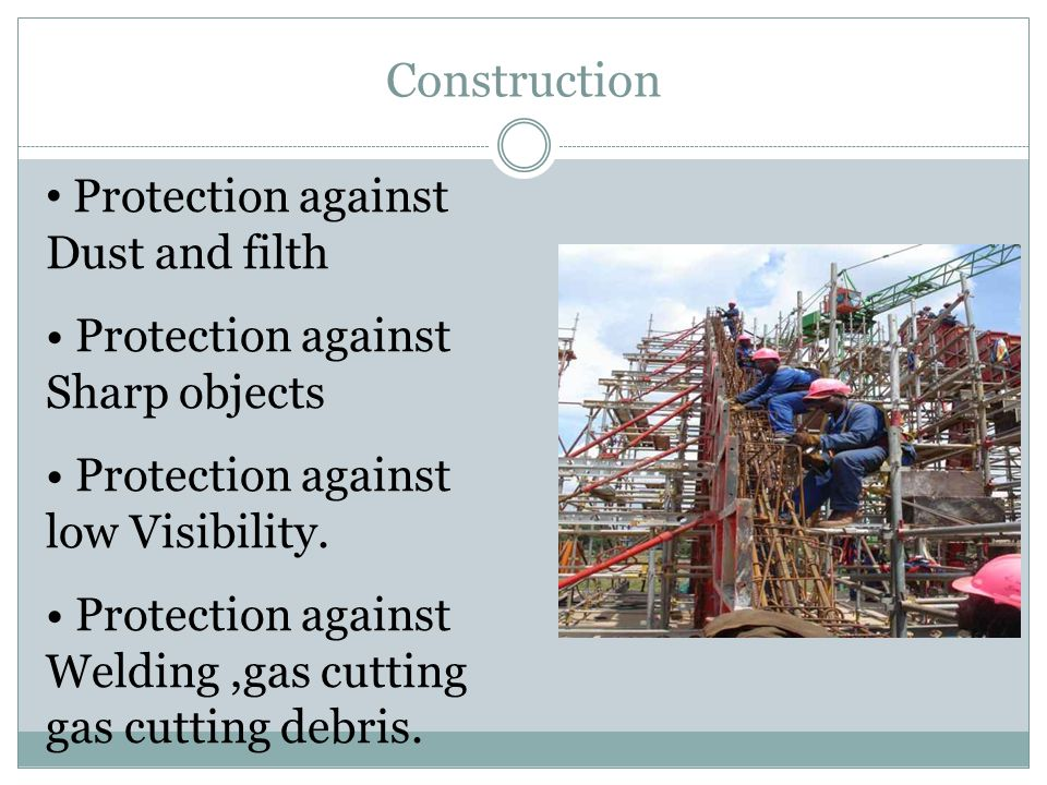 Construction Protection against Dust and filth