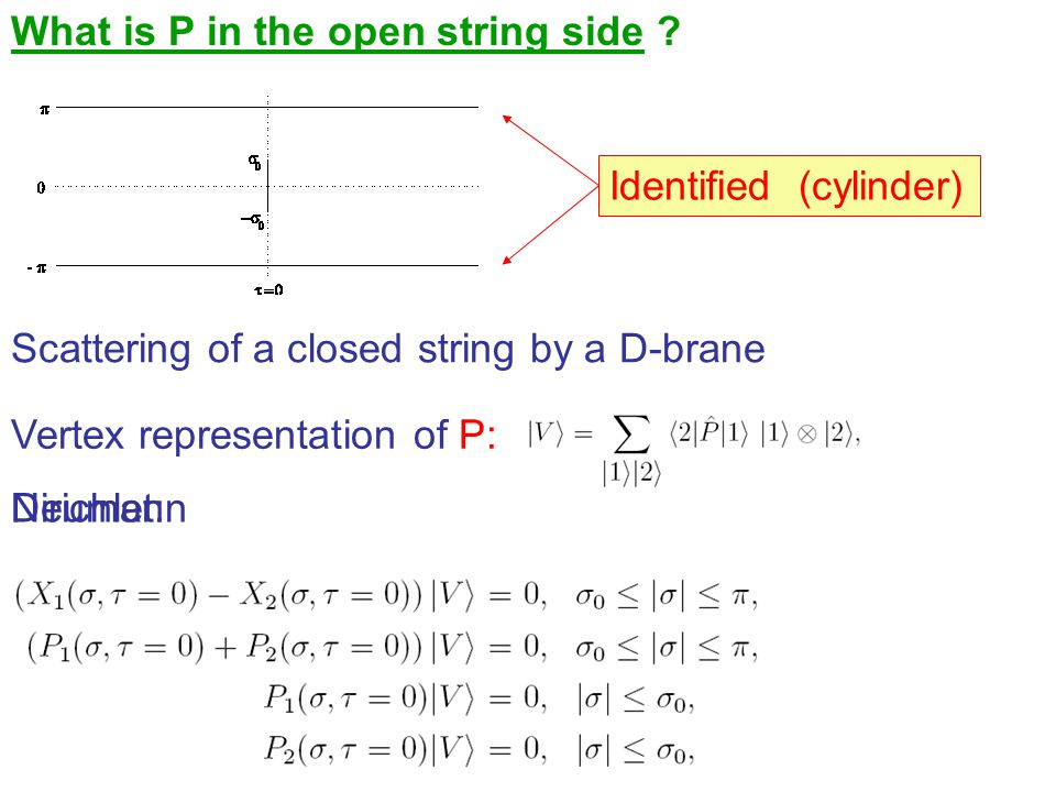What is P in the open string side