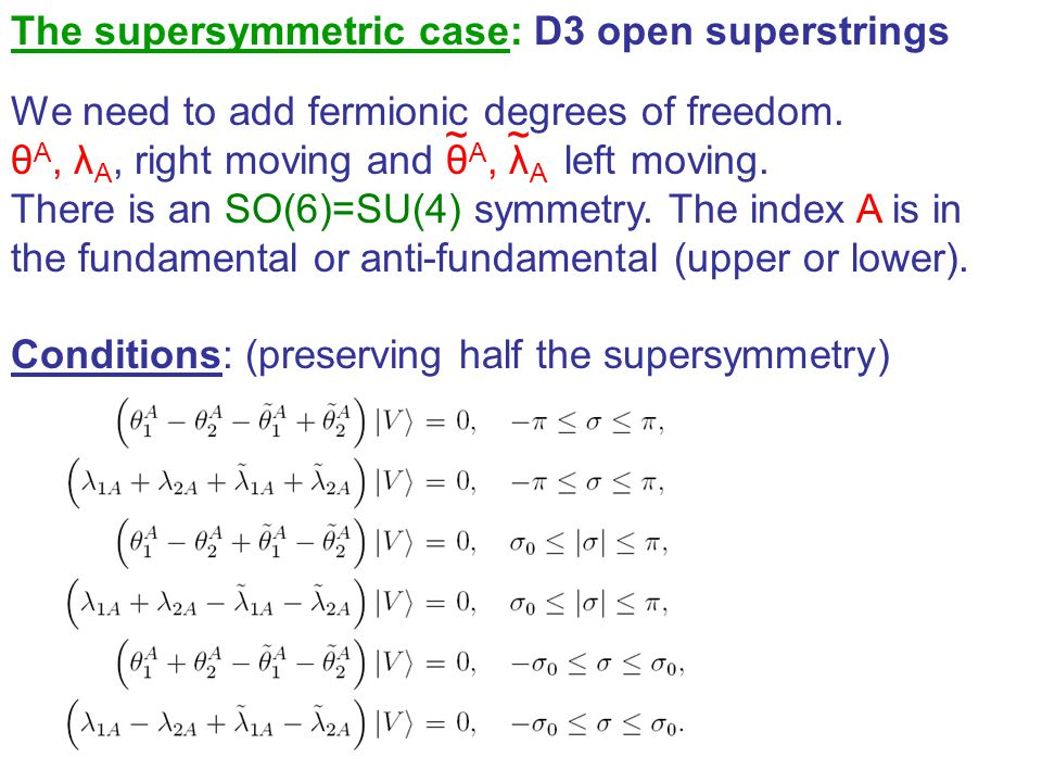 The supersymmetric case: D3 open superstrings