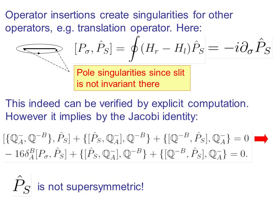 Operator insertions create singularities for other