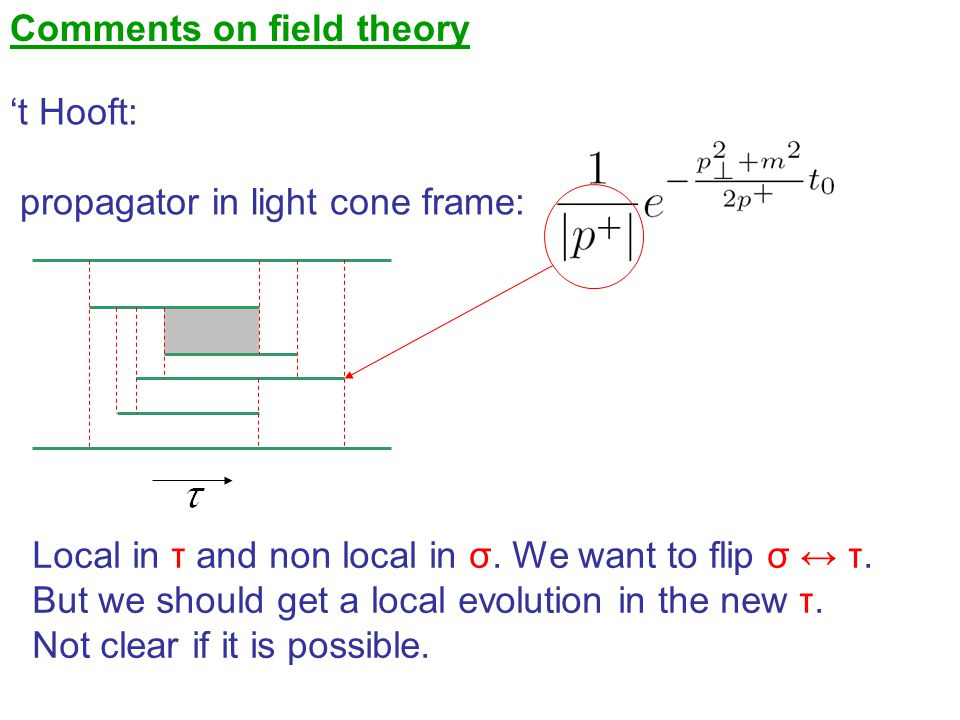 Comments on field theory