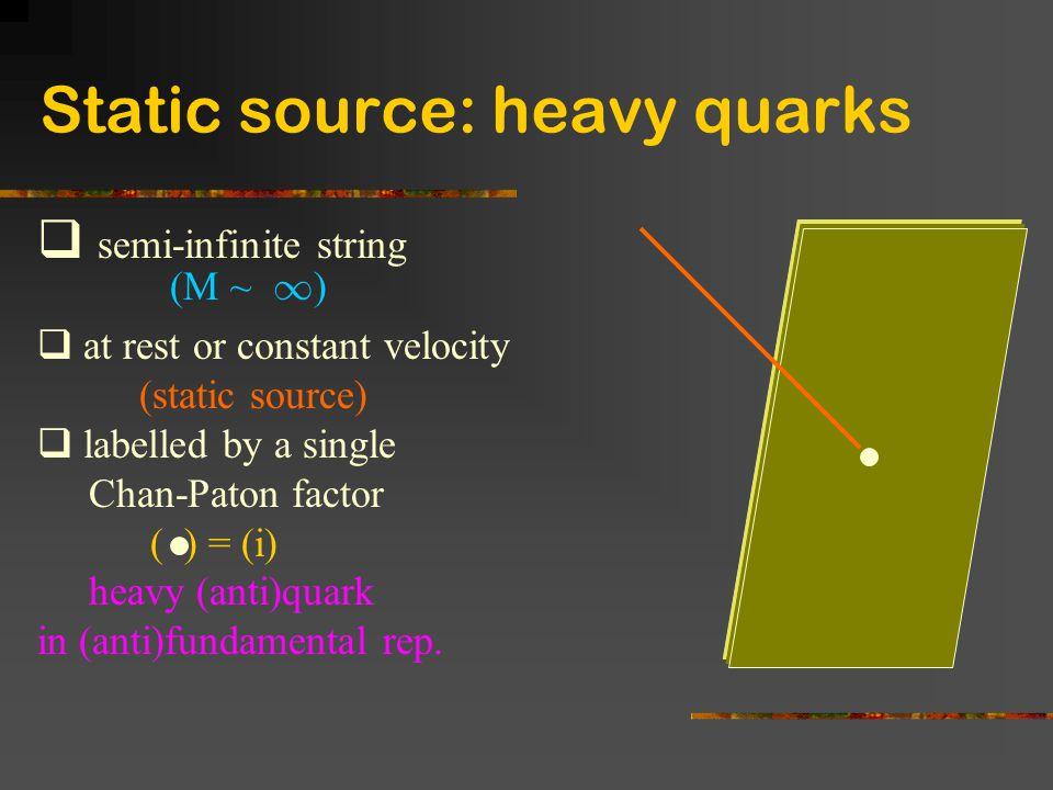 Static source: heavy quarks