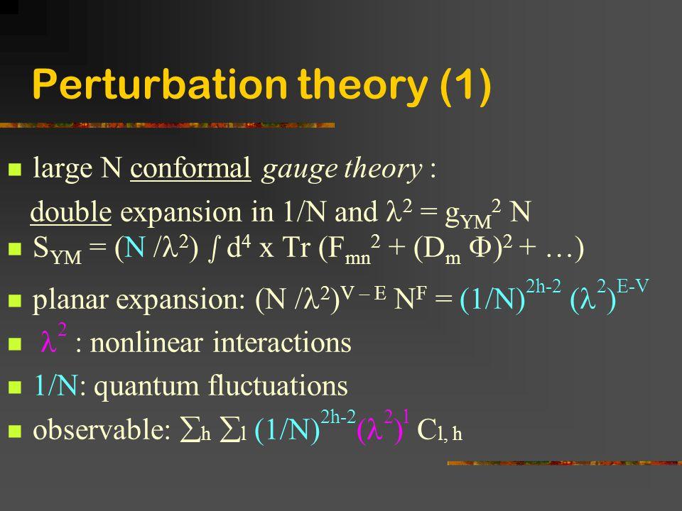 Perturbation theory (1)