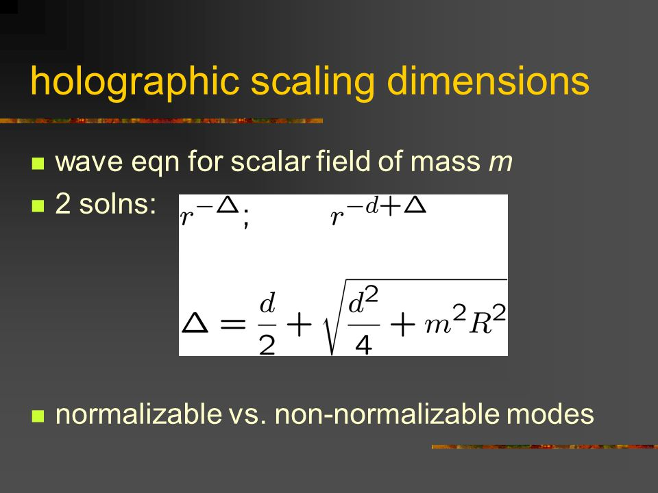holographic scaling dimensions