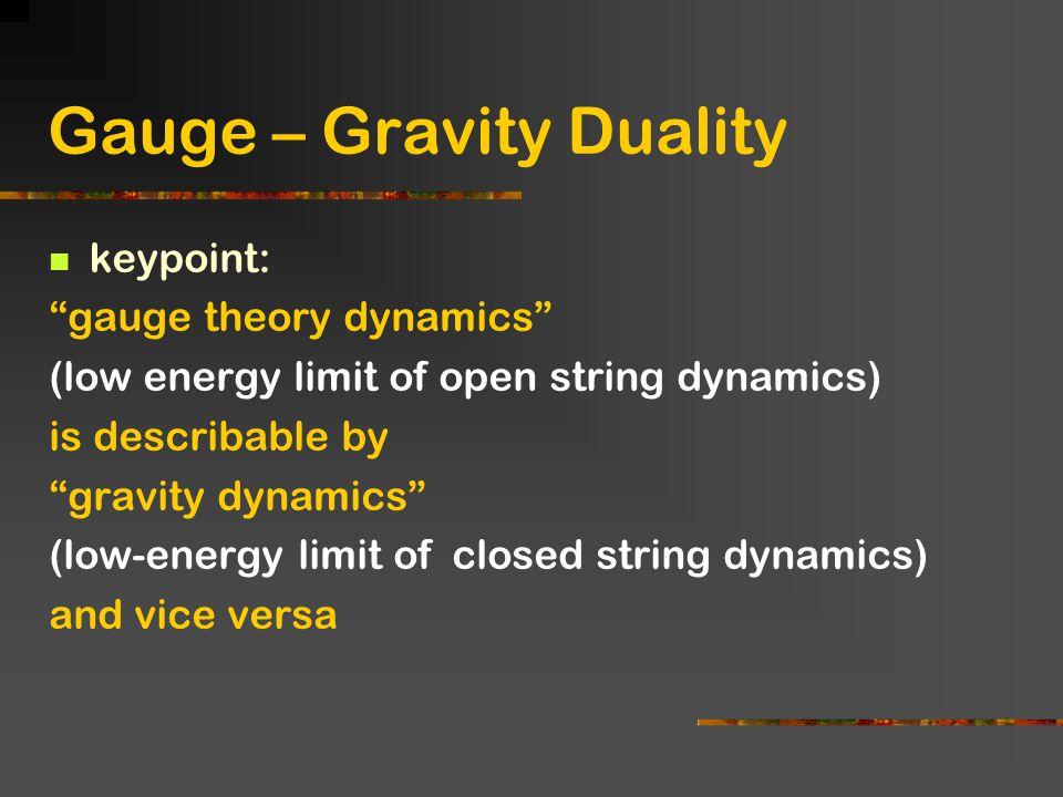 Gauge – Gravity Duality