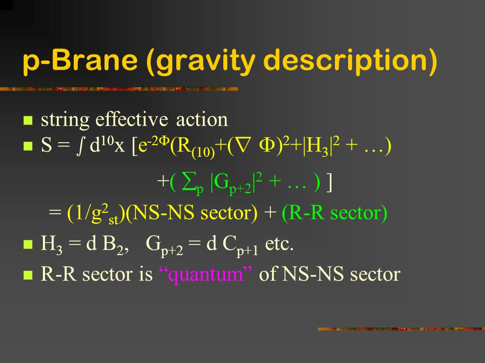 p-Brane (gravity description)