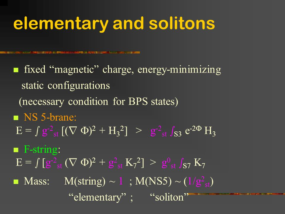 elementary and solitons