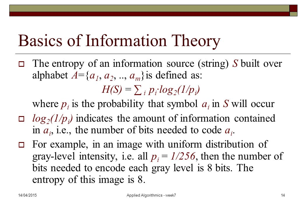 Basics of Information Theory