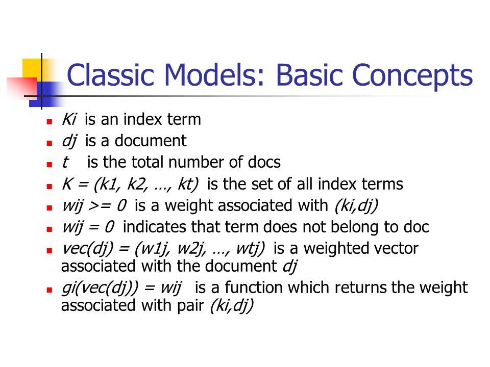 Classic Models: Basic Concepts