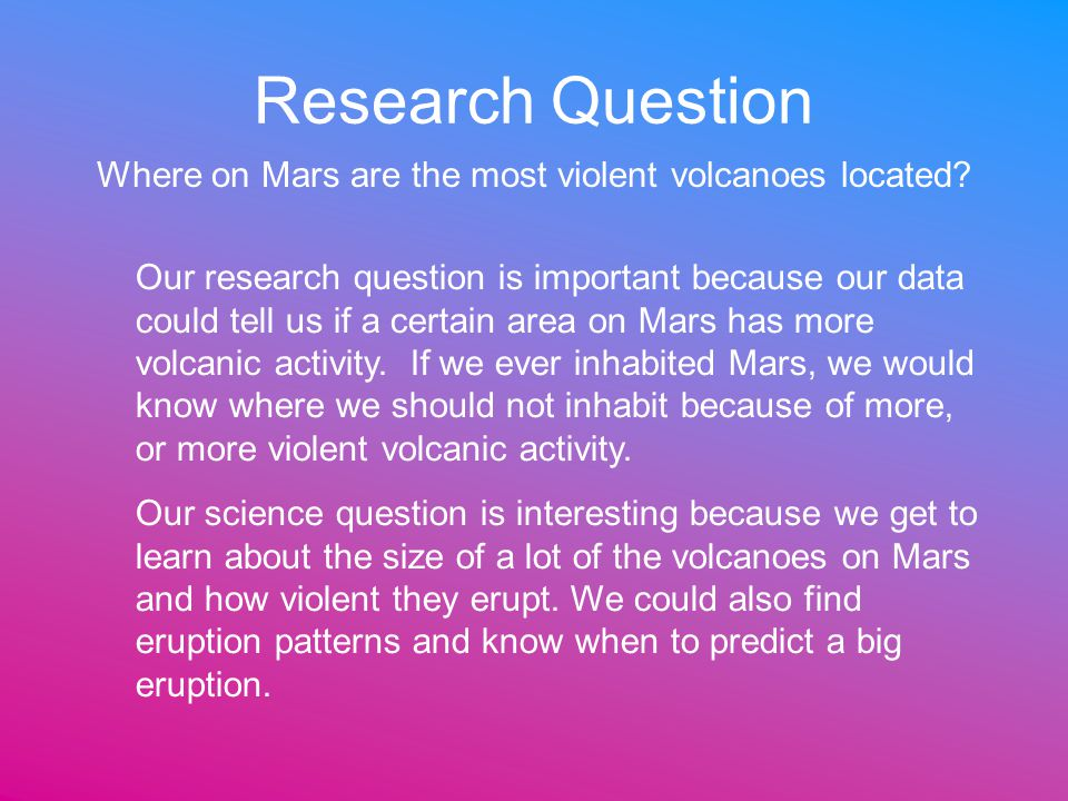 Where on Mars are the most violent volcanoes located