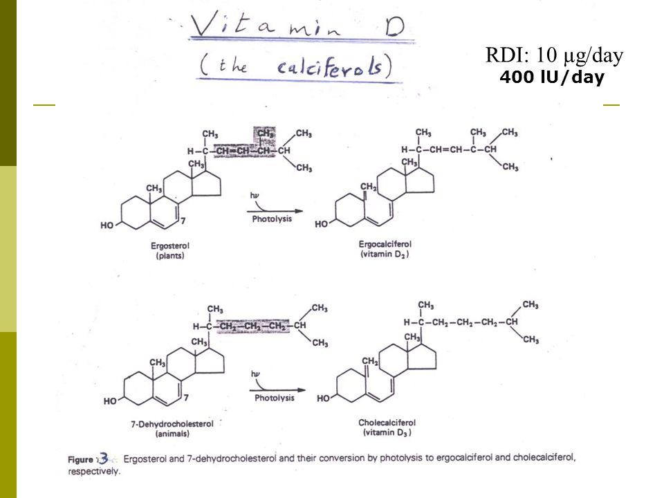 RDI: 10 µg/day 400 lU/day