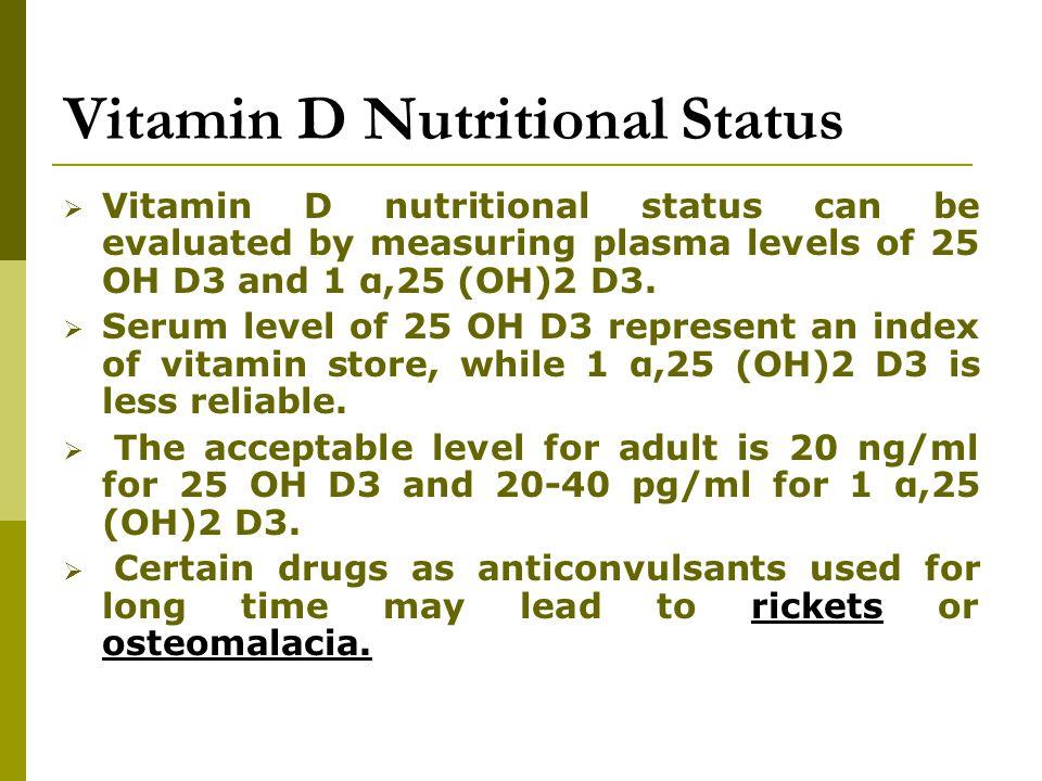 Vitamin D Nutritional Status