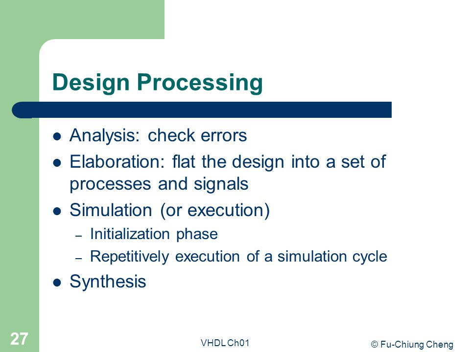 Design Processing Analysis: check errors