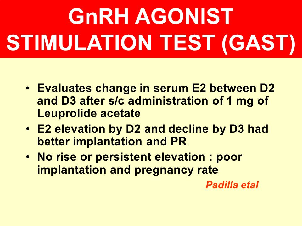 GnRH AGONIST STIMULATION TEST (GAST)