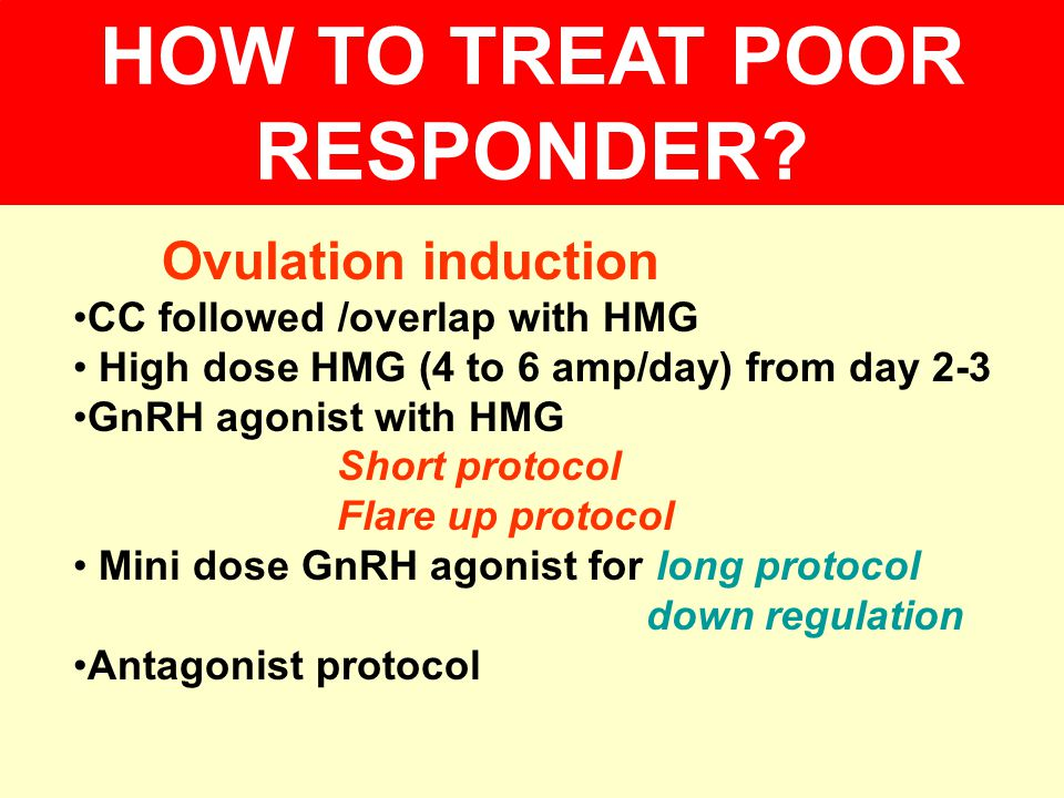 HOW TO TREAT POOR RESPONDER