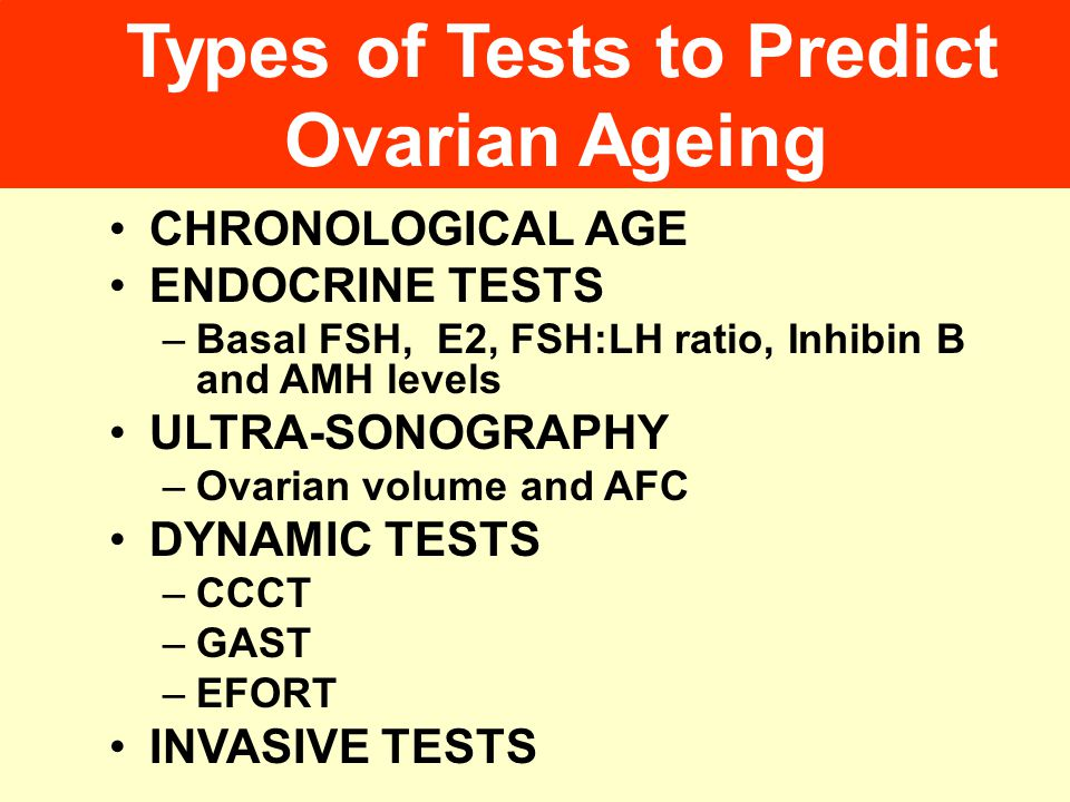 Types of Tests to Predict Ovarian Ageing