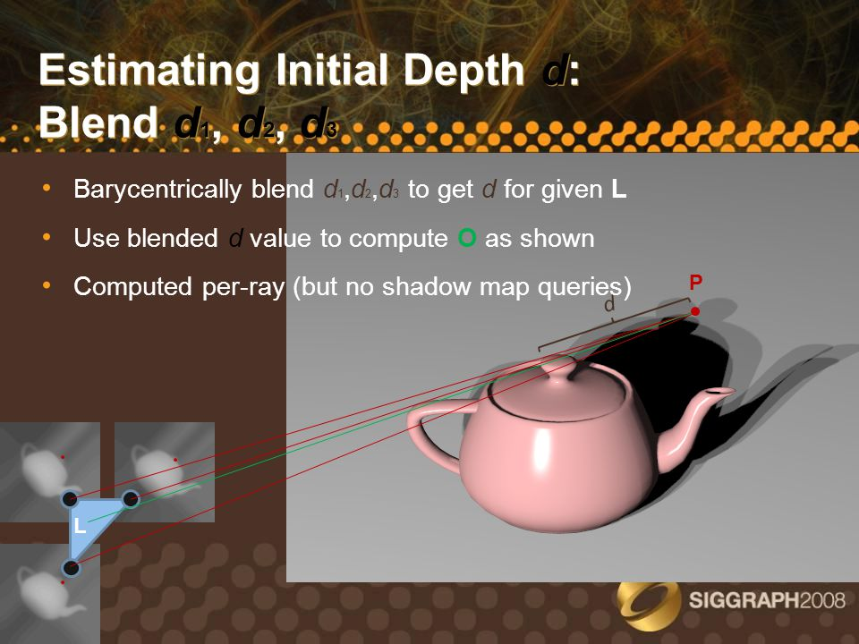 Estimating Initial Depth d: Blend d1, d2, d3