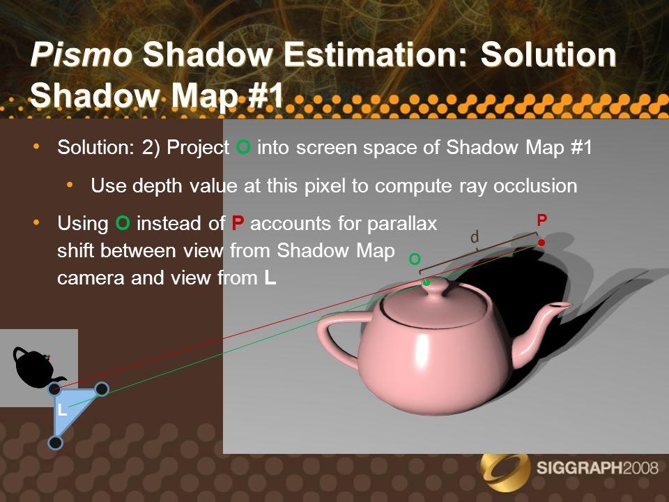Pismo Shadow Estimation: Solution Shadow Map #1