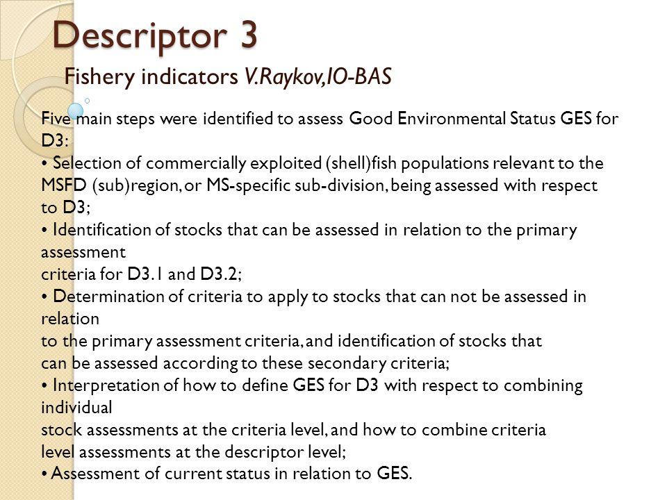 Fishery indicators V.Raykov,IO-BAS