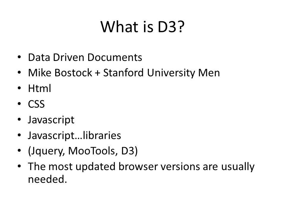 What is D3 Data Driven Documents