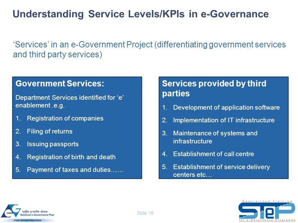 Understanding Service Levels/KPIs in e-Governance