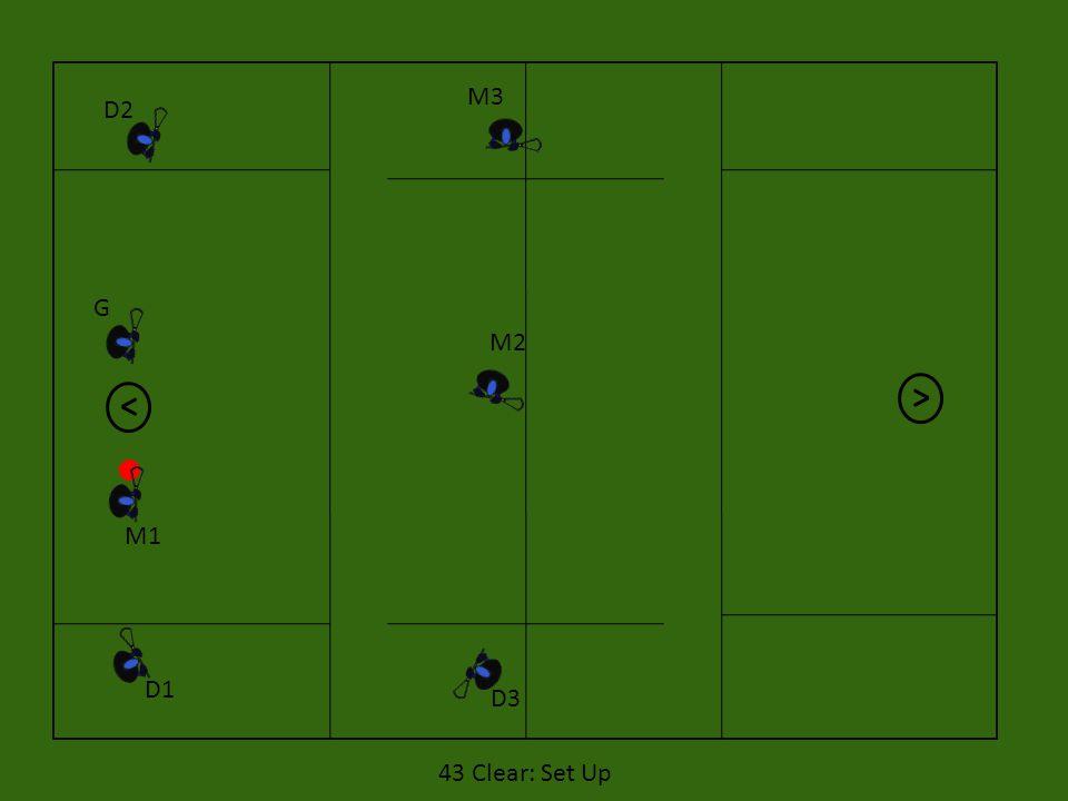 M3 D2 G M2 M1 D1 D3 43 Clear: Set Up