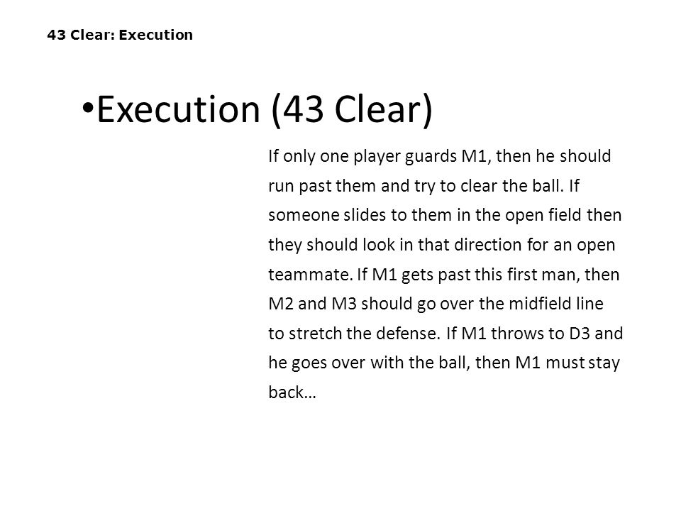 43 Clear: Execution Execution (43 Clear)