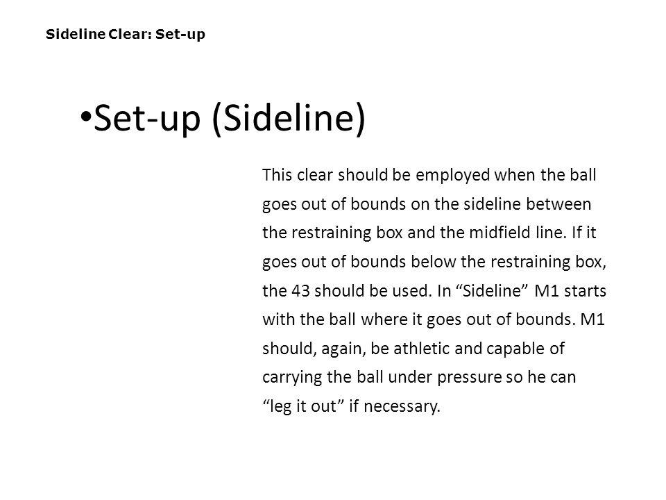 Sideline Clear: Set-up