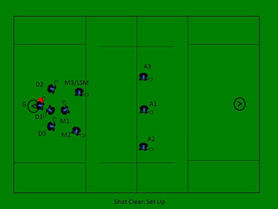 A3 M3/LSM D2 G A1 D1 M1 D3 M2 A2 Shot Clear: Set Up 7