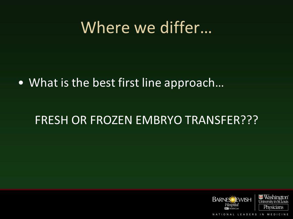 FRESH OR FROZEN EMBRYO TRANSFER