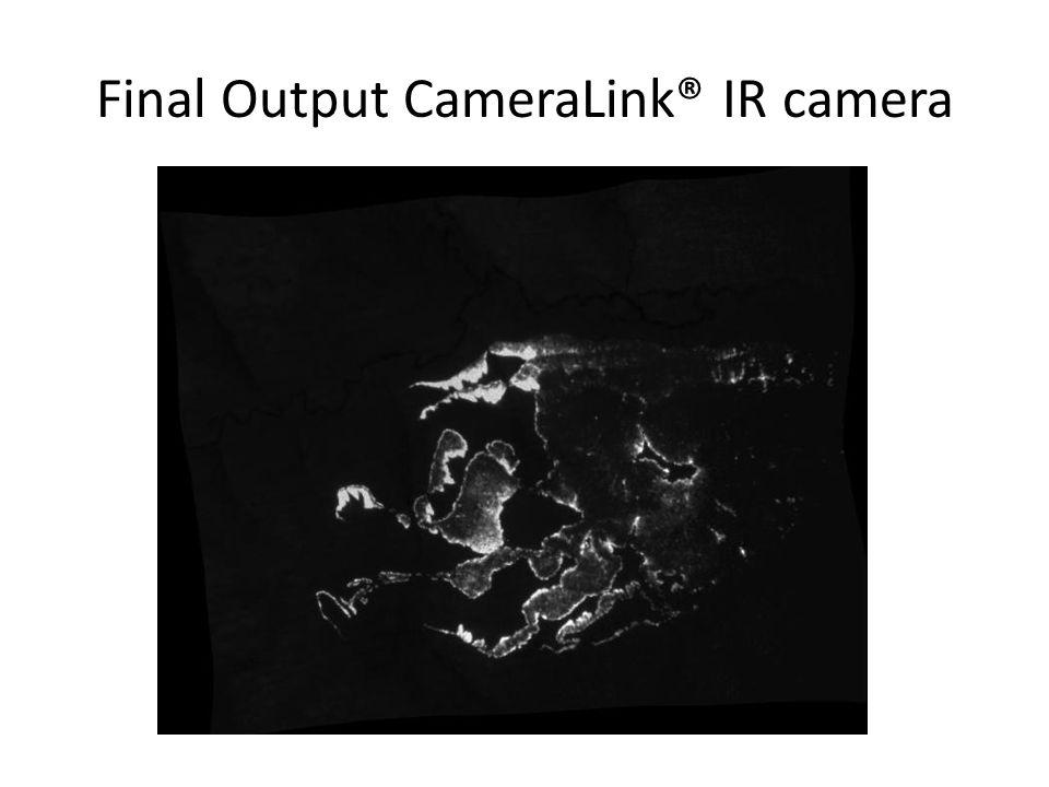 Final Output CameraLink® IR camera