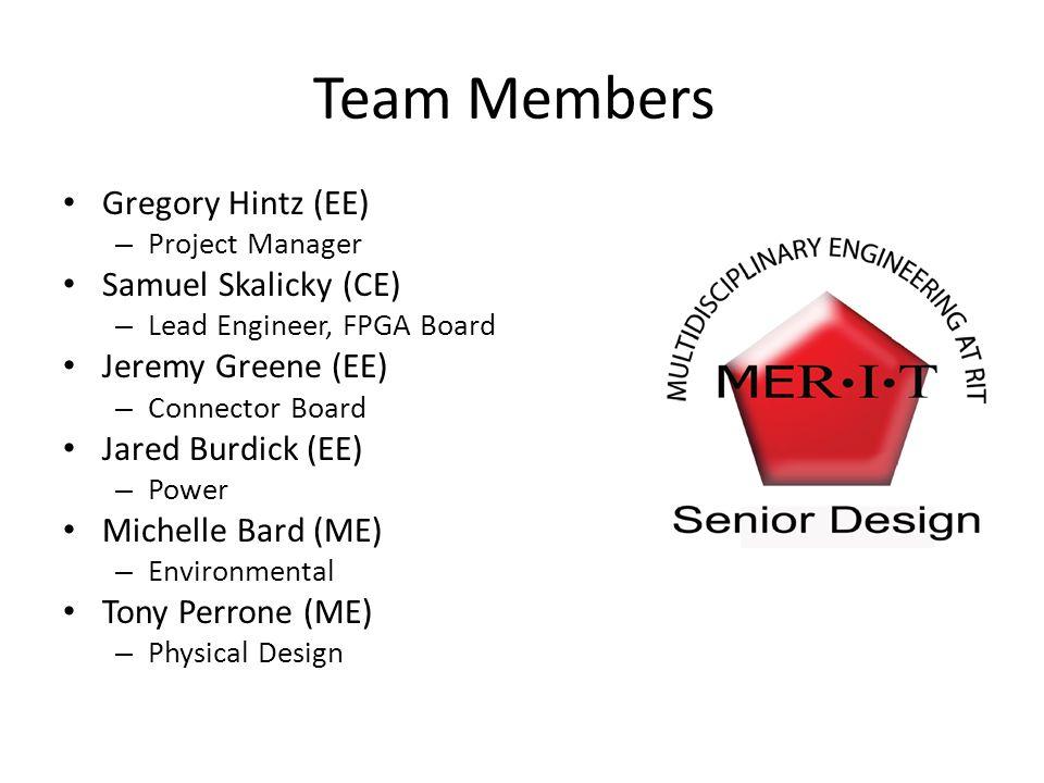 Team Members Gregory Hintz (EE) Samuel Skalicky (CE)