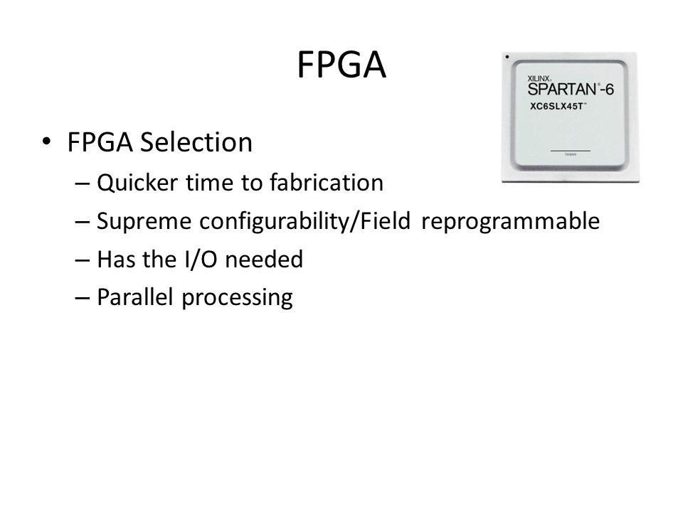 FPGA FPGA Selection Quicker time to fabrication