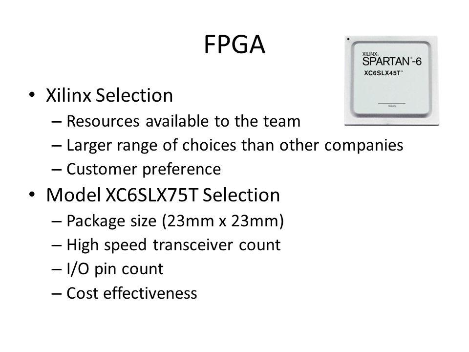 FPGA Xilinx Selection Model XC6SLX75T Selection