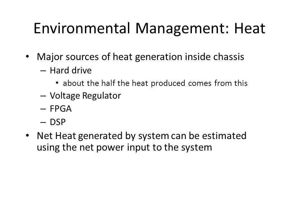 Environmental Management: Heat