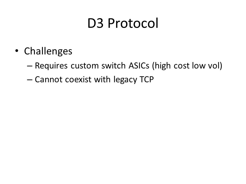 D3 Protocol Challenges.