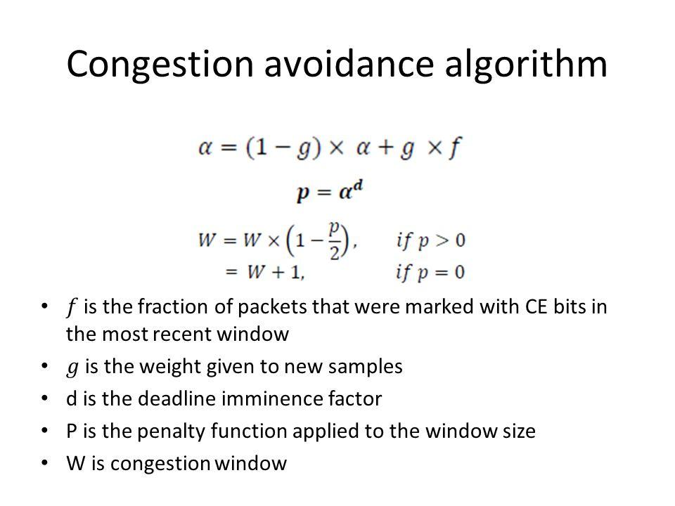 Congestion avoidance algorithm
