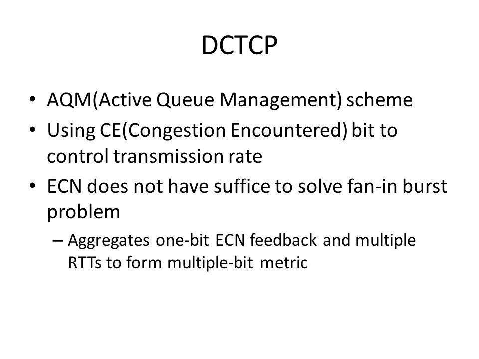 DCTCP AQM(Active Queue Management) scheme