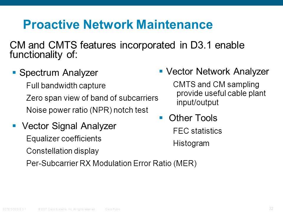 Proactive Network Maintenance