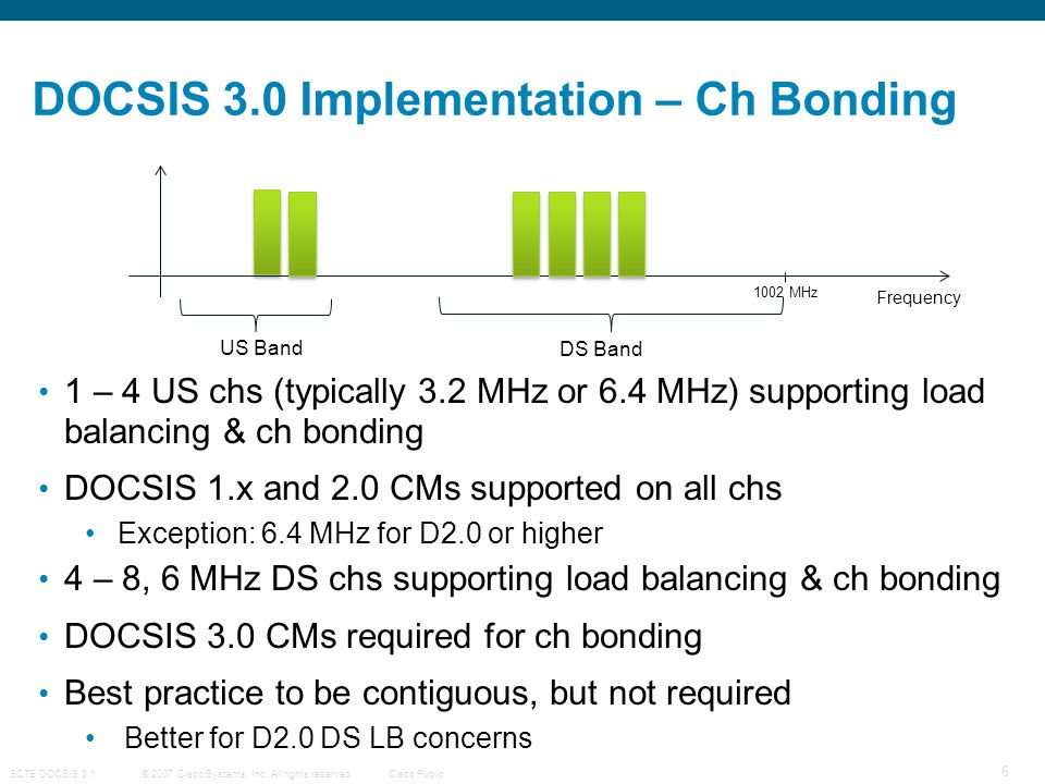 DOCSIS 3.0 Implementation – Ch Bonding