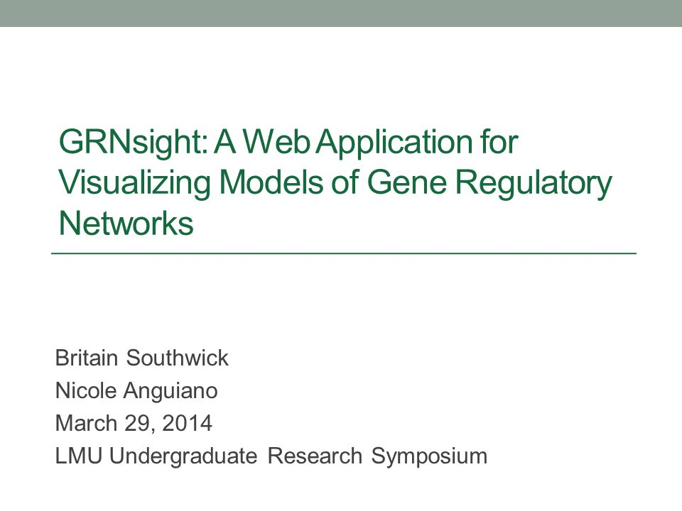 GRNsight: A Web Application for Visualizing Models of Gene Regulatory Networks