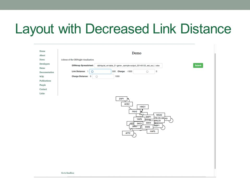 Layout with Decreased Link Distance