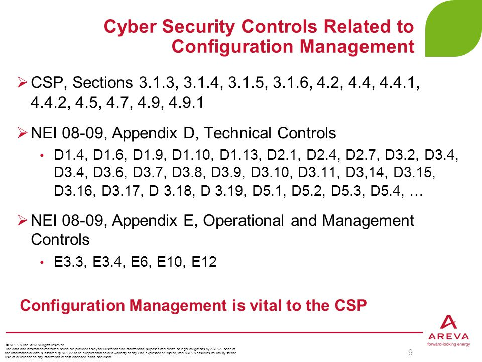 Cyber Security Controls Related to Configuration Management