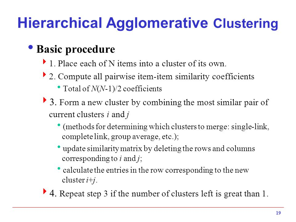 Hierarchical Agglomerative Clustering