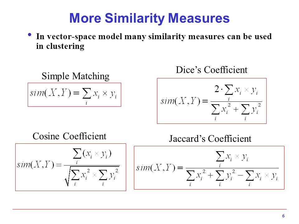 More Similarity Measures