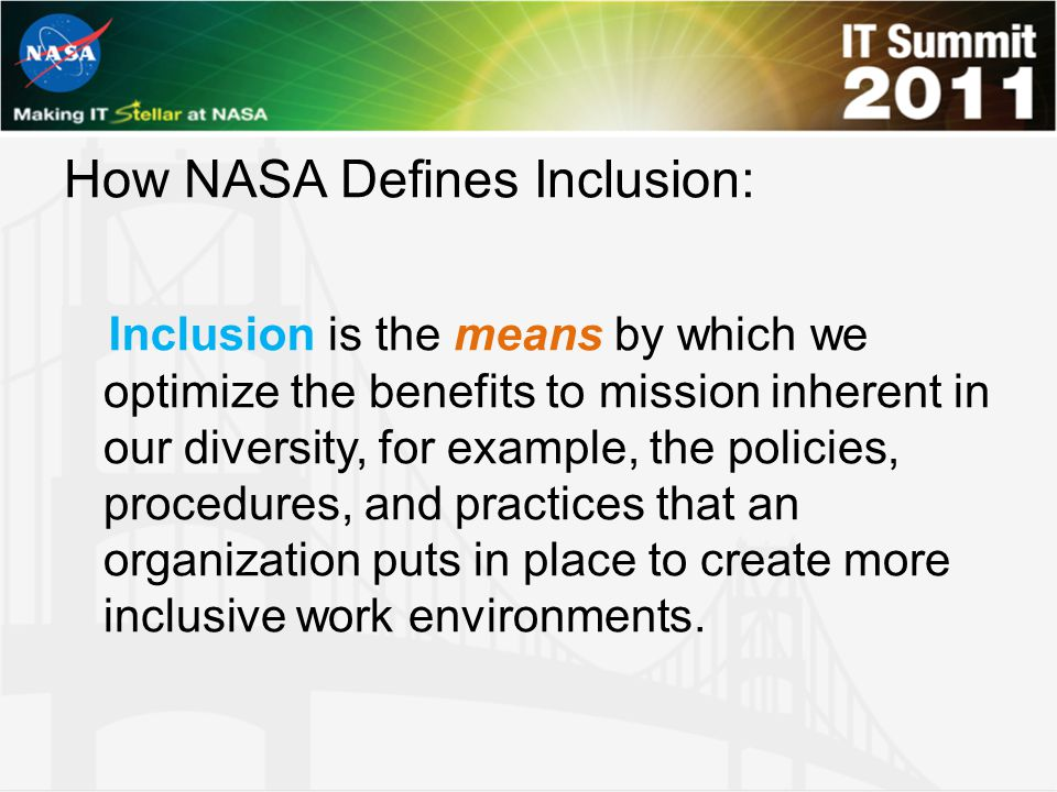 How NASA Defines Inclusion: