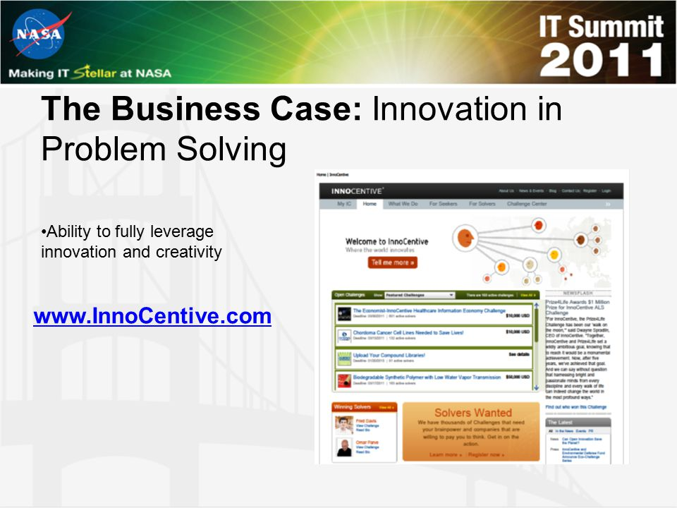 The Business Case: Innovation in Problem Solving