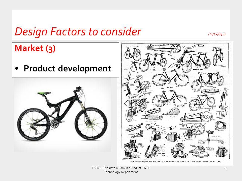 Design Factors to consider (T1/A2/D3.1)