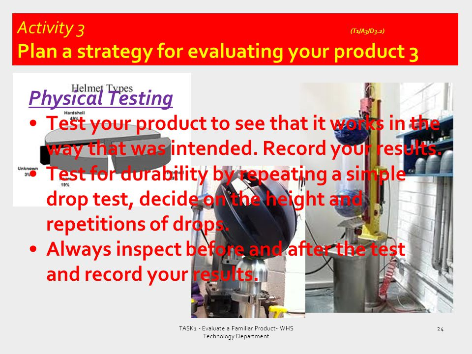 Activity 3 (T1/A3/D3.2) Plan a strategy for evaluating your product 3